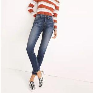 Madewell slim straight stretch jeans in Hammond watch 28